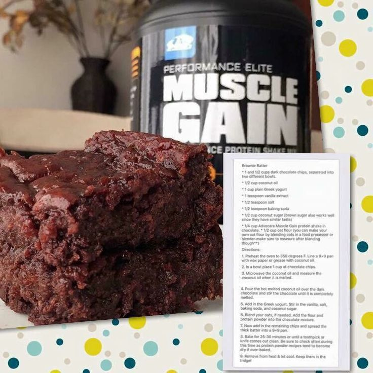 Brownies with Chocolate Muscle Gain (and chocolate chips!) www.advocare.com/140222345