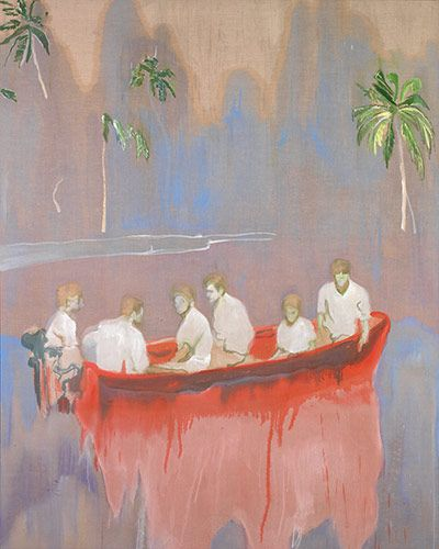Credit: Michael Werner Gallery Figures in Red Boat, 2005 - 2007