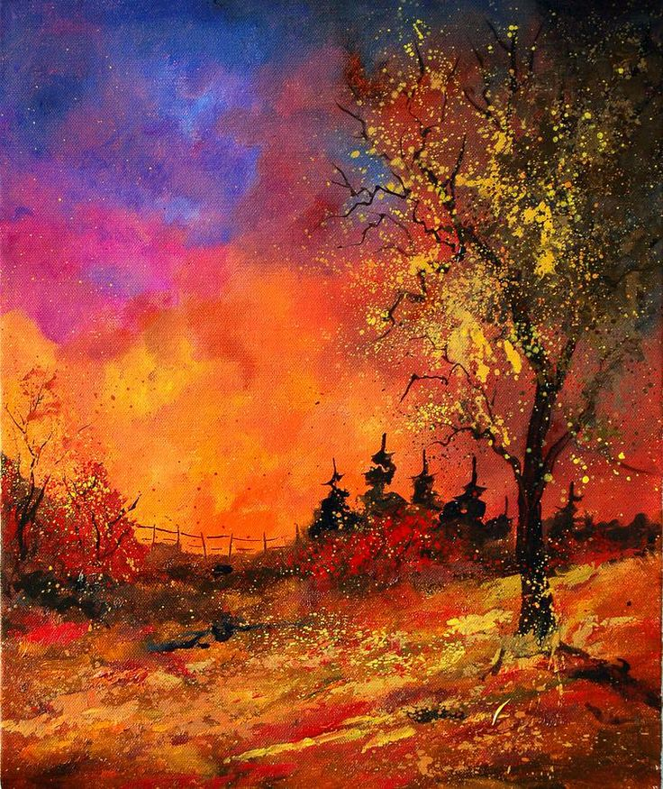 Картинки по запросу reproduction d'art fall colors 56 par ledent, 61x46cm.