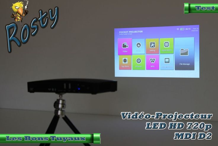 [TEST] Présentation du Vidéo Projecteur LED HD 720P Portable MDI D2 http://ift.tt/2oGyDj4 Bon Plan - Rosty Les Bons Tuyaux
