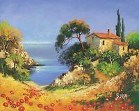 Burgy: French Coast II Fertig-Bild 24x30 Wandbild Küste Frankreich Meer