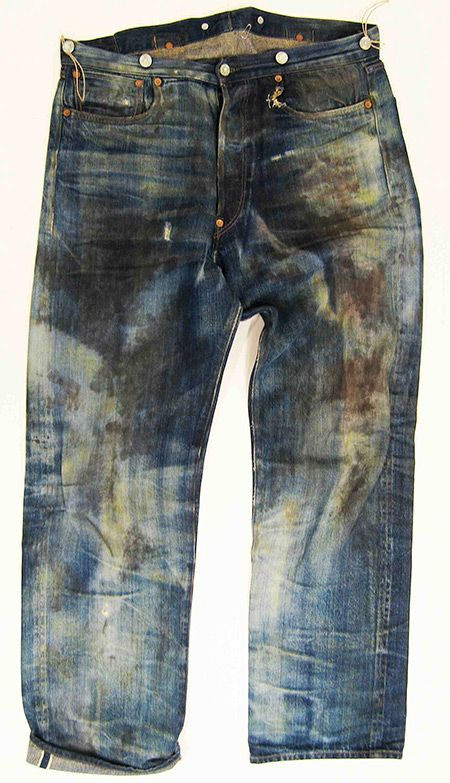 Levis 501XX Special Edition Spur Bites and Barnyard Jeans. Wow! Now that's some serious wear.