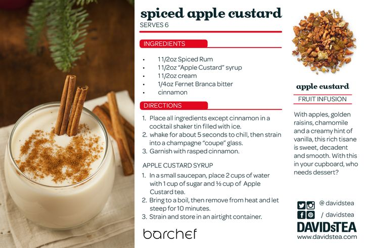 A delicious tea cocktail made with our Apple Custard blend!