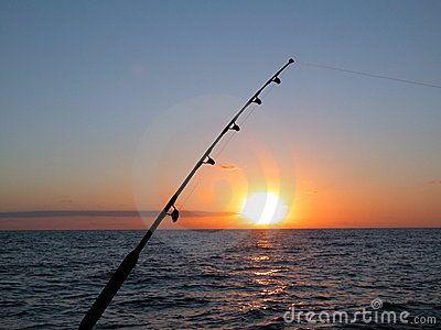 Fishing at Atlantic Ocean