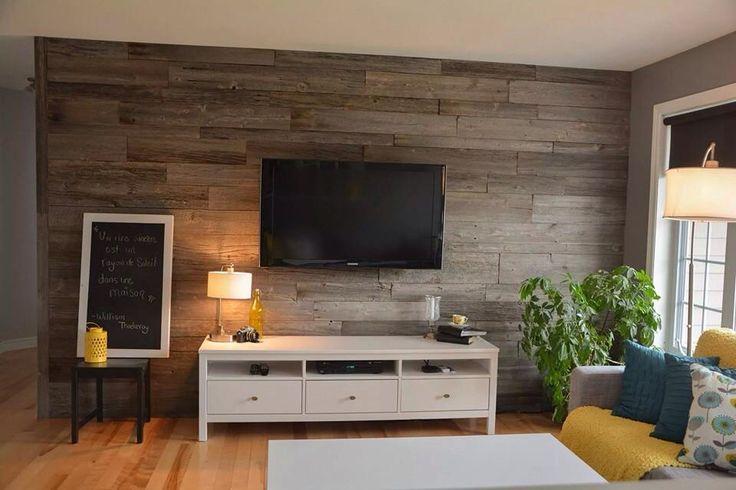 plus de 1000 id es propos de salon mur bois de grange. Black Bedroom Furniture Sets. Home Design Ideas