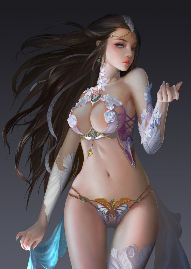 Nude Elf Girl Masturbates Her Hairy Pussy