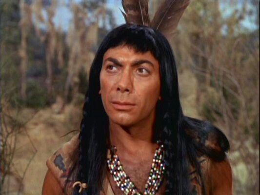 Ed Ames as Mingo in Daniel Boone TV series
