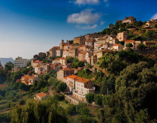 village of Oletta, Northern Corsica