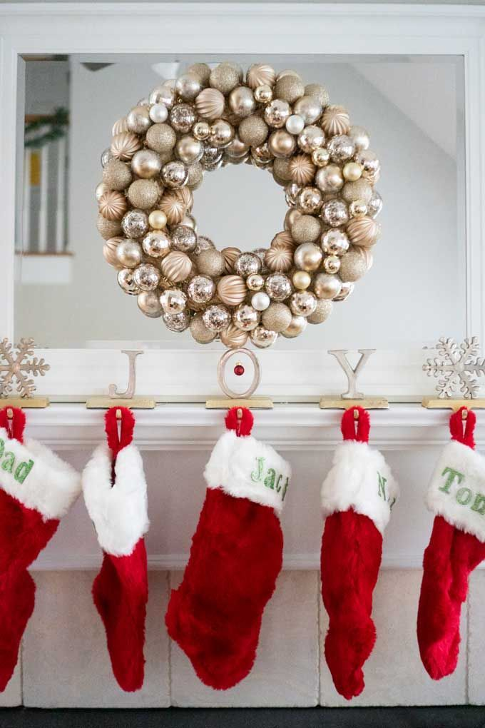 This Easy Diy Christmas Ornament Wreath Can Store Bought For As Little As 20 Christmas Wreaths Diy Easy Diy Christmas Ornaments Diy Christmas Ornaments Easy