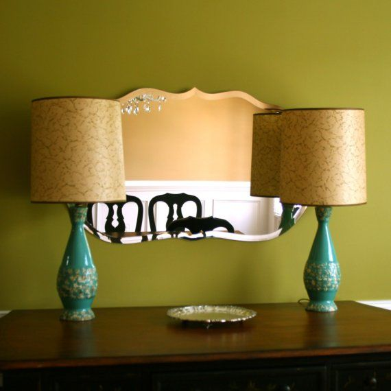 vintage turquoise lamps