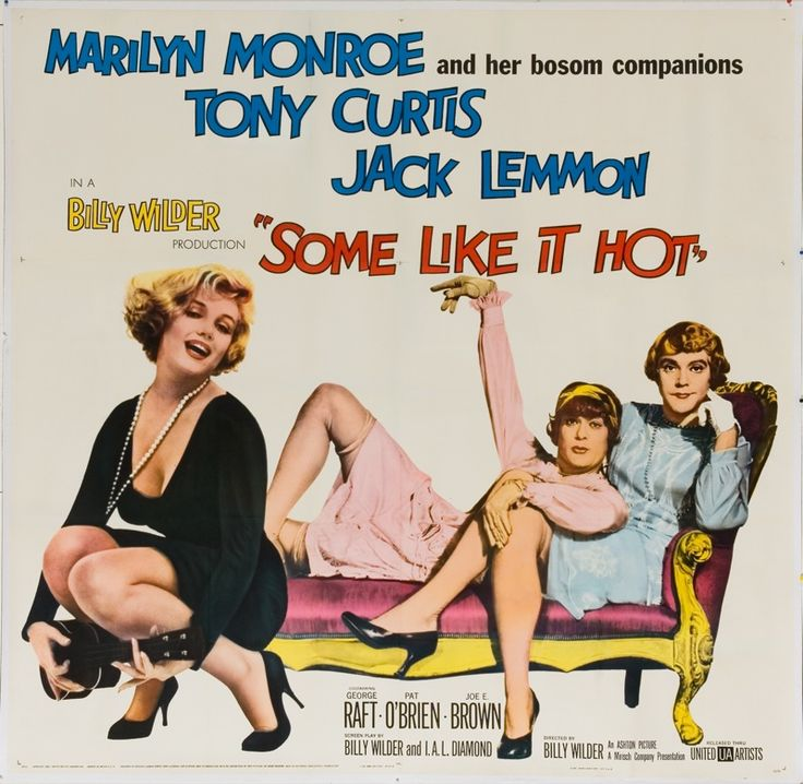 """MARILYN MONROE MOVIE POSTER """"Some Like It Hot"""""""