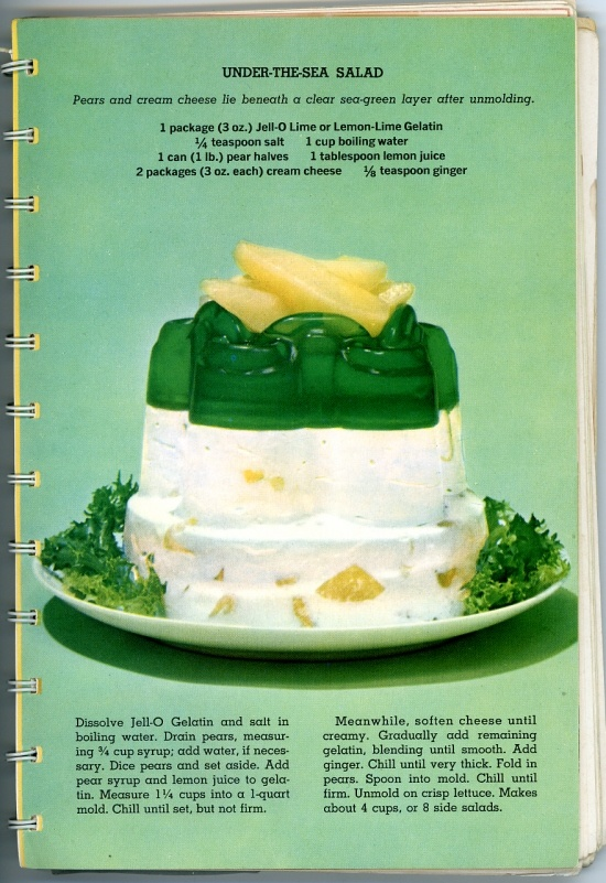 under-the-sea jello salad, from a vintage recipe