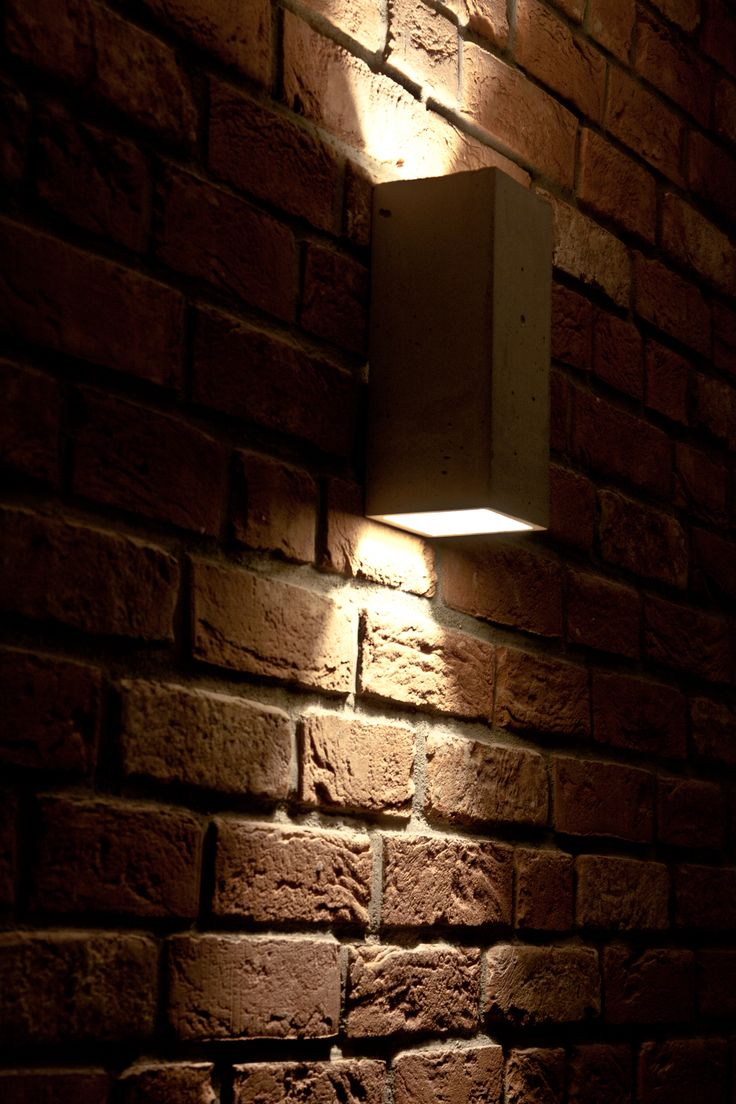 Our classic concrete wall lamp Orto - soon available as in table version and new wood design #concrete #lamp #design
