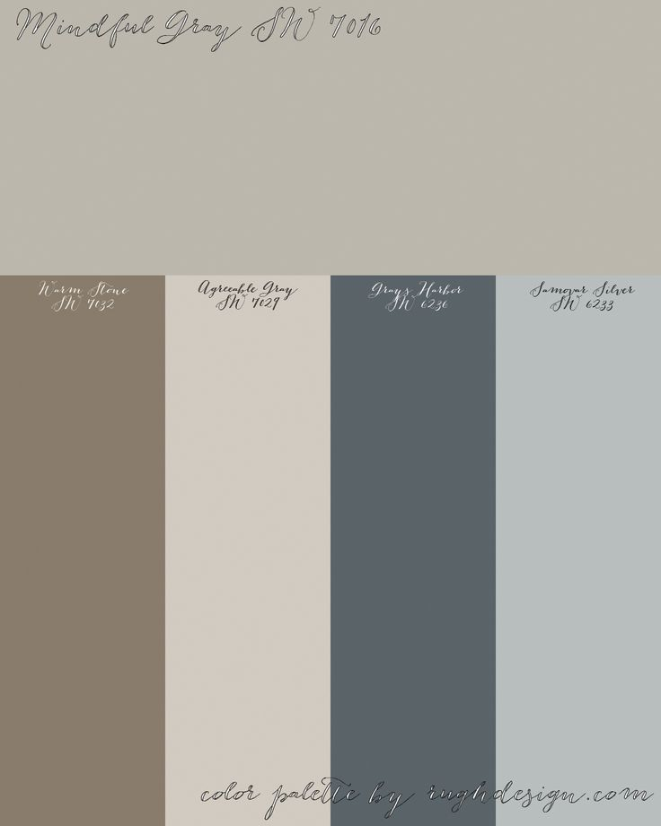 Mindful Gray Kitchen: Mindful Gray SW 7016 With A Complementary Color Scheme.