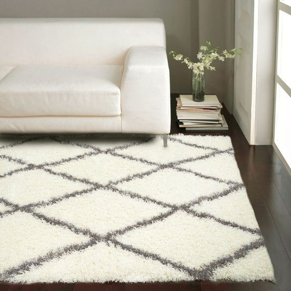 nuLOOM Shag Gray & White Area Rug & Reviews | Wayfair