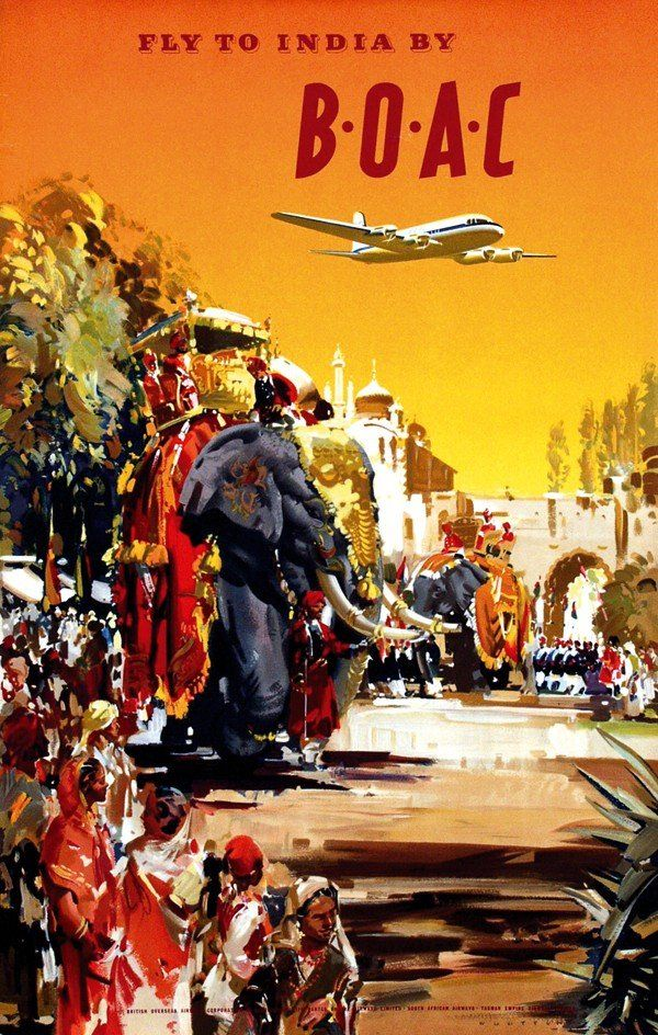 Frank Wootton / BOAC - Fly to India / 1950