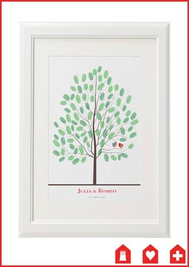 wedding tree #3 - das ganz besondere Gästebuch! #guestbook #wedding #fingerprint #green #birds #owl