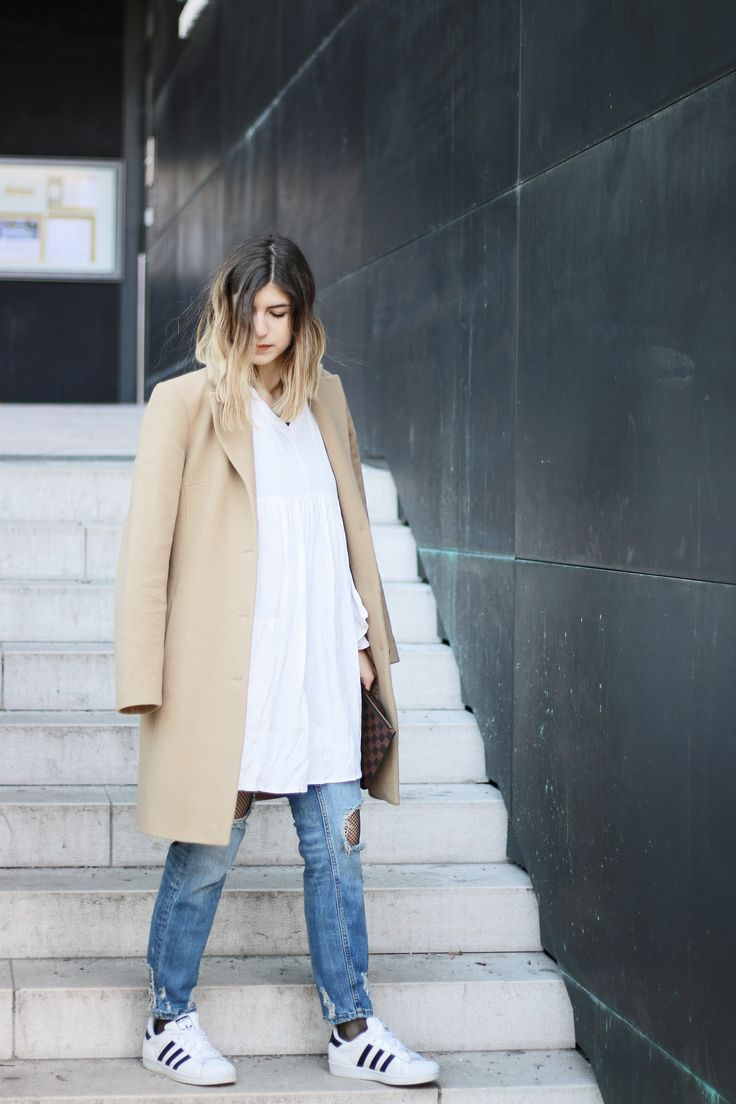 Mommys Camel Coat + Life Update - Fashion Blogger, Adidas, Edited Dress, Ombré, Hair, Hairstyle, Trend, Outfit, Ootd