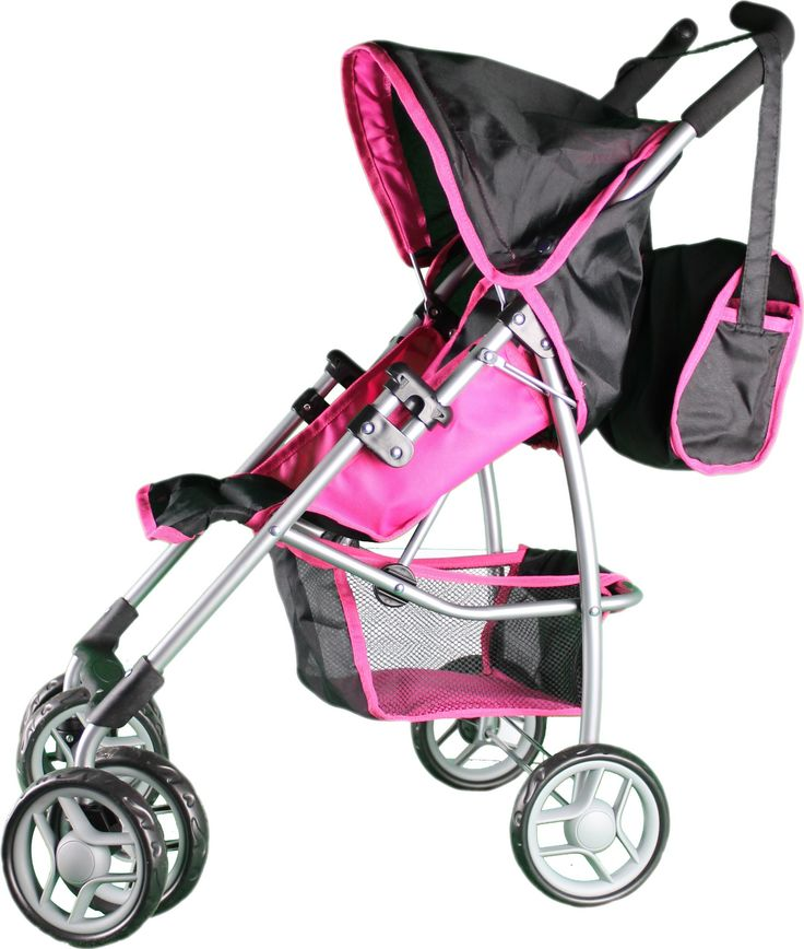Mommy & Me Doll Stroller Swiveling Wheels with Free