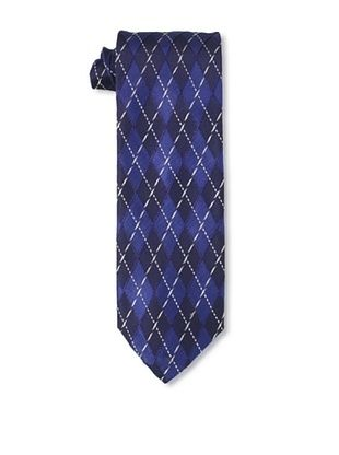 Massimo Bizzocchi Men's Argyle Tie, Blue/Black