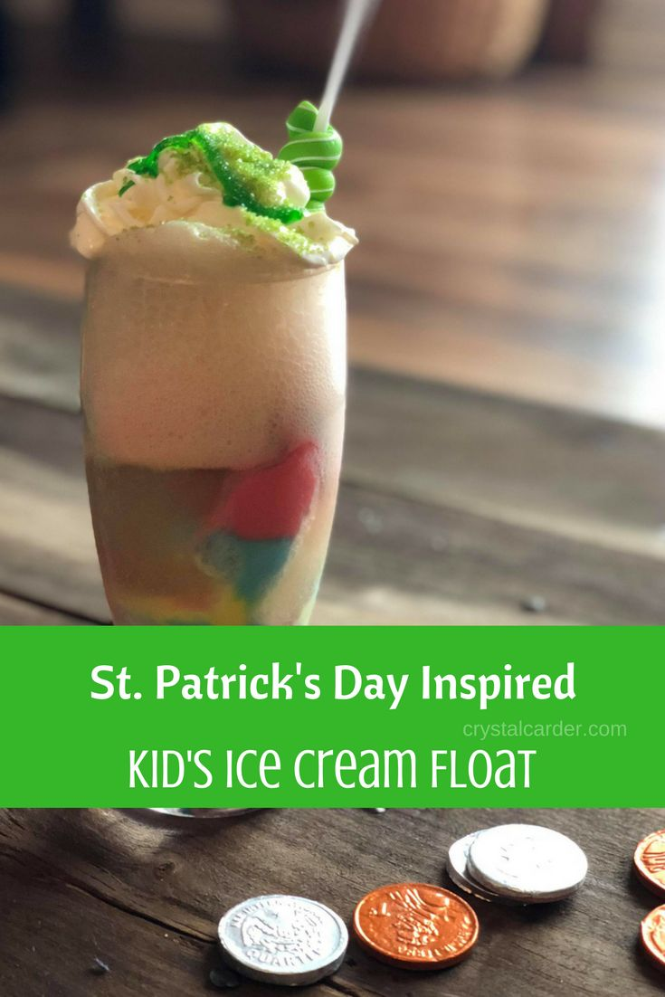 St. Patrick's Day Inspired Kid's Ice Cream Float