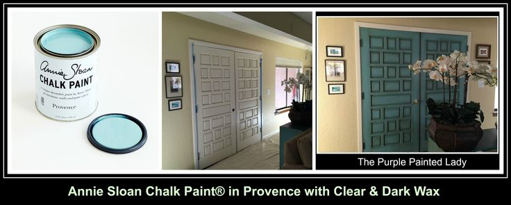The Purple Painted Lady - Using Provence Chalk Paint® to paint your front door