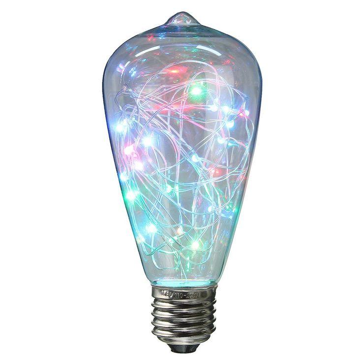 Epic Edison die Gl hbirnen Form mit LED Lichterkette im Inneren nettes Gadget