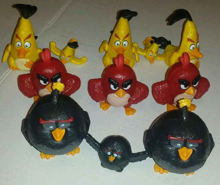 McDonald's Happy Meal Toys Angry Birds Lot of 11 Hard Plastic  | eBay