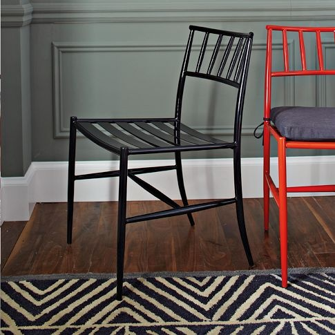 Spindle Back Side Chair   west elm: Dining Rooms, Kitchens Chairs, Paintings Colors, Dining Chairs, Kitchens Tables, Red Chairs, West Elm, Side Chairs, Chairs Westelm