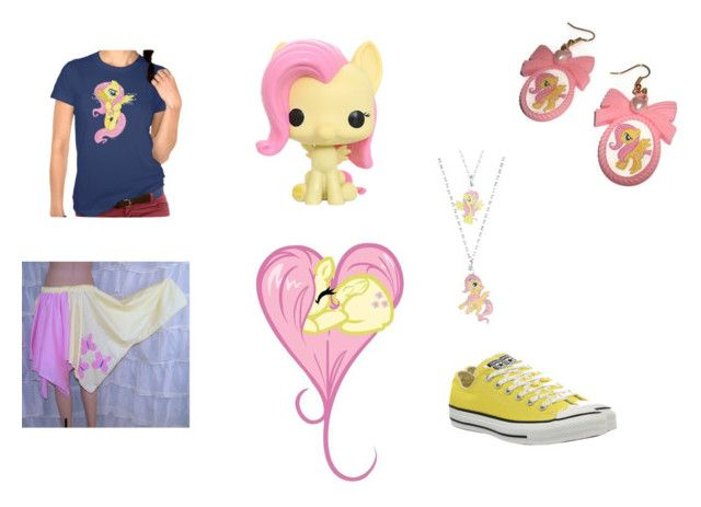 """""""MY LITTLE PONY!!!(flutter shy)"""" by pugshugs on Polyvore featuring My Little Pony and Converse"""