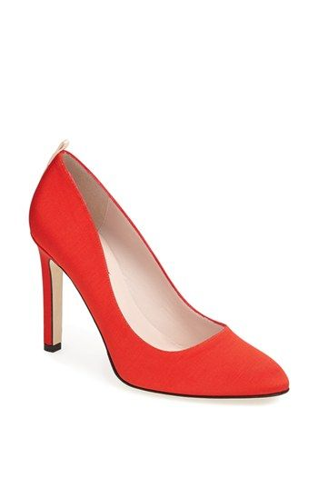 SJP 'Lady' Pump is a classic sexy red pump that can be paired with anything. You could go totally glam with a vintage little black dress or pair with your favorite jeans and a white t-shirt. LOVE