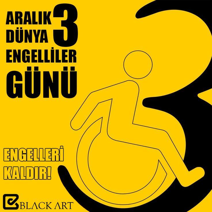 3 Aralık Dünya Engelliler Günü | Engelleri Kaldır!  #3Aralık #EngellilerGünü #blackart #engelleri #kaldiriyoruz