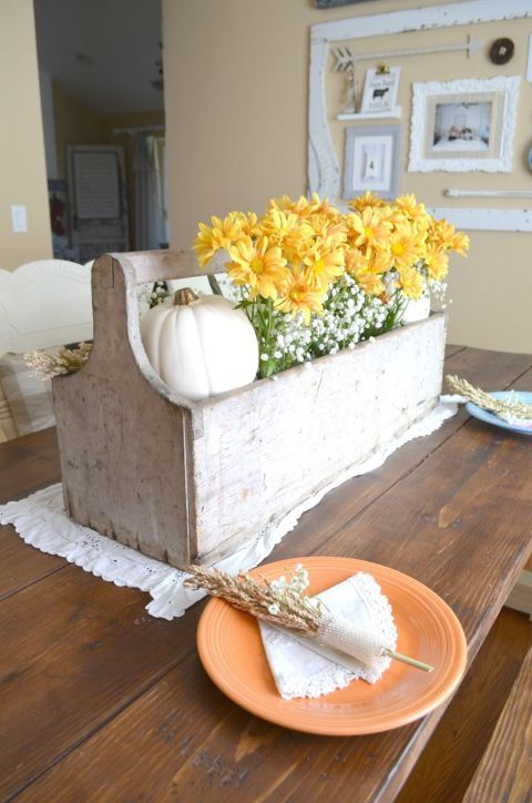 121 best thanksgiving table settings images on pinterest Simple thanksgiving table decorations