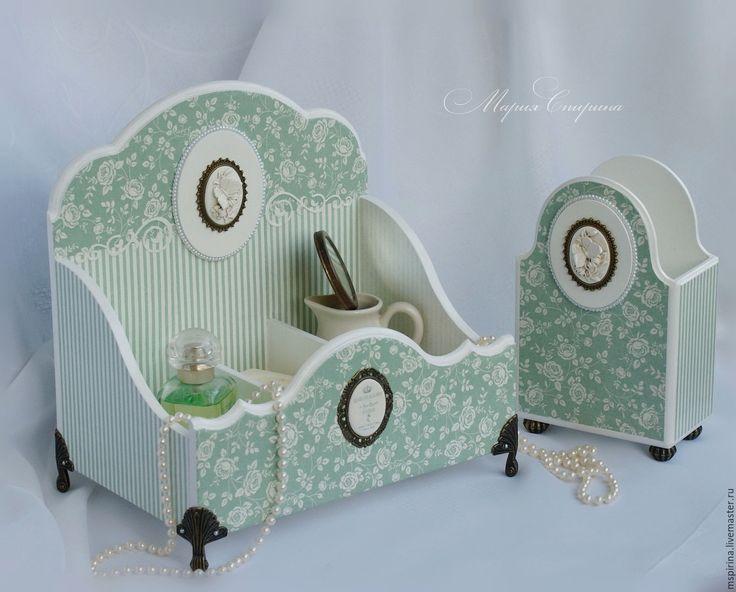 """Купить Дамский набор для туалетного столика """"Мятный бриз"""" - мятный, дамский набор, для туалетного столика"""