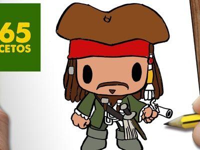 COMO DIBUJAR JACK SPARROW KAWAII PASO A PASO - Dibujos kawaii faciles - How to draw a JACK SPARROW
