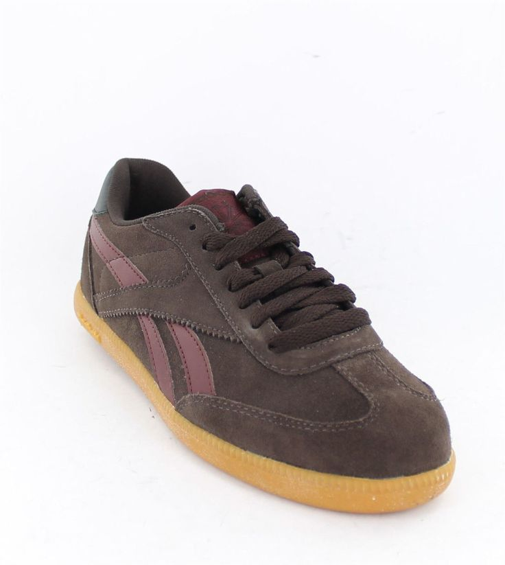 Reebok Suede Lace Up Trainers In Earth/Black/French Roast Style - Cl Vienna