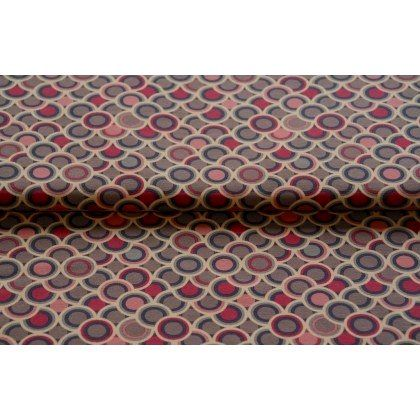 Stenzo 16/17 2628-12 tricot retro fantasie rondjes roze/fuchsia/grijs