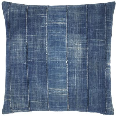 Vintage Denim Pillow - stripes - simple:) like