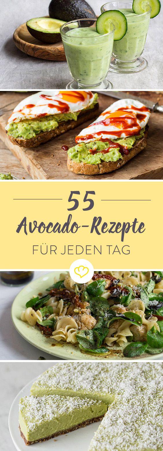 Du liebst Avocado? Dann musst du dich an diesen 55 umnwiderstehlich leckeren Avocado-Rezepten probieren. Auf der Pizza, im Salat oder zwischen zwei Brötchenhälften – die buttrige Beere (ja, die Avocado ist botanisch gesehen eine Beere und nicht, wie man öfters liest, eine Steinfrucht) ist immer ein Genuss – selbst in Smoothies und Shakes.