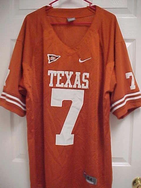 TEXAS LONGHORNS 7 Big 12 Logo Embroidered Orange Football Mesh Jersey 54  Nike  Nike  TexasLonghorns ac2c55435