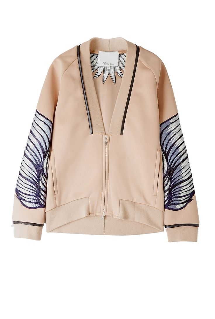 Embroidered Neoprene Jacket by 3.1 Phillip Lim