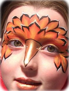 bird face paint | Bird Face Painting Birds are hard and this is