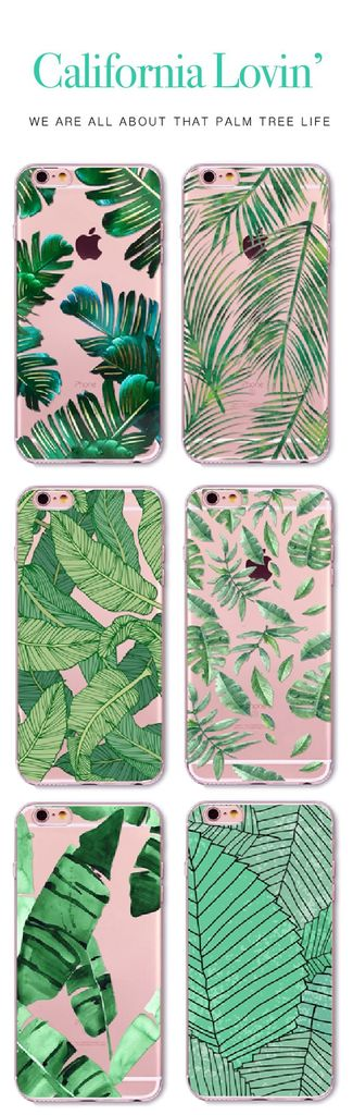 Only $18.99 + Free US Shipping! California Palm Tree Leaves Case for iPhones 5 5s SE 6 6S 6Plus 6s Plus & 7. Buy yours now at Sale price from www.FamilyDeals.store