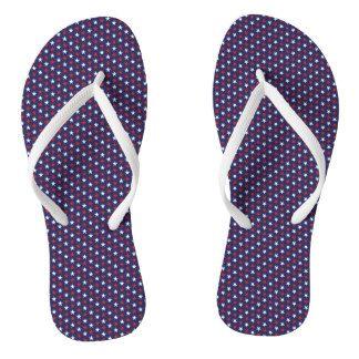 Patriotic Stars Design Flip Flops