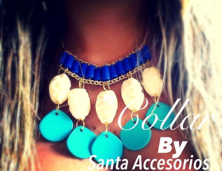 #collar #bysanta #azul/aqua