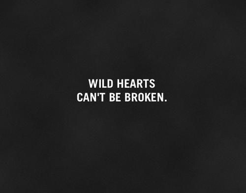 Wild hearts can't be broken. #Quote This would be cute as a tattoo with a small horse below it.