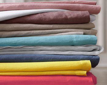 linge de lit en lin uni - Becquet