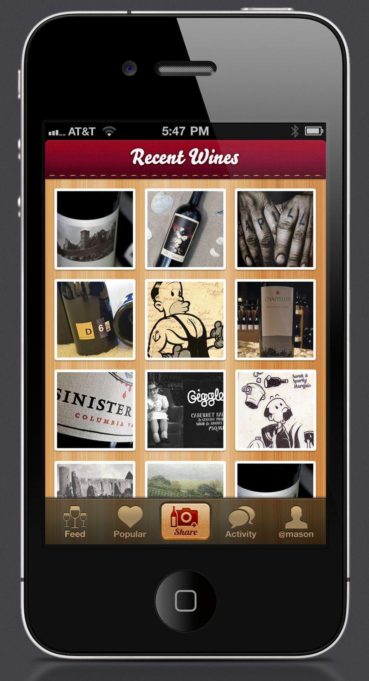 Wine App iPhone UI by Mason Yarnell