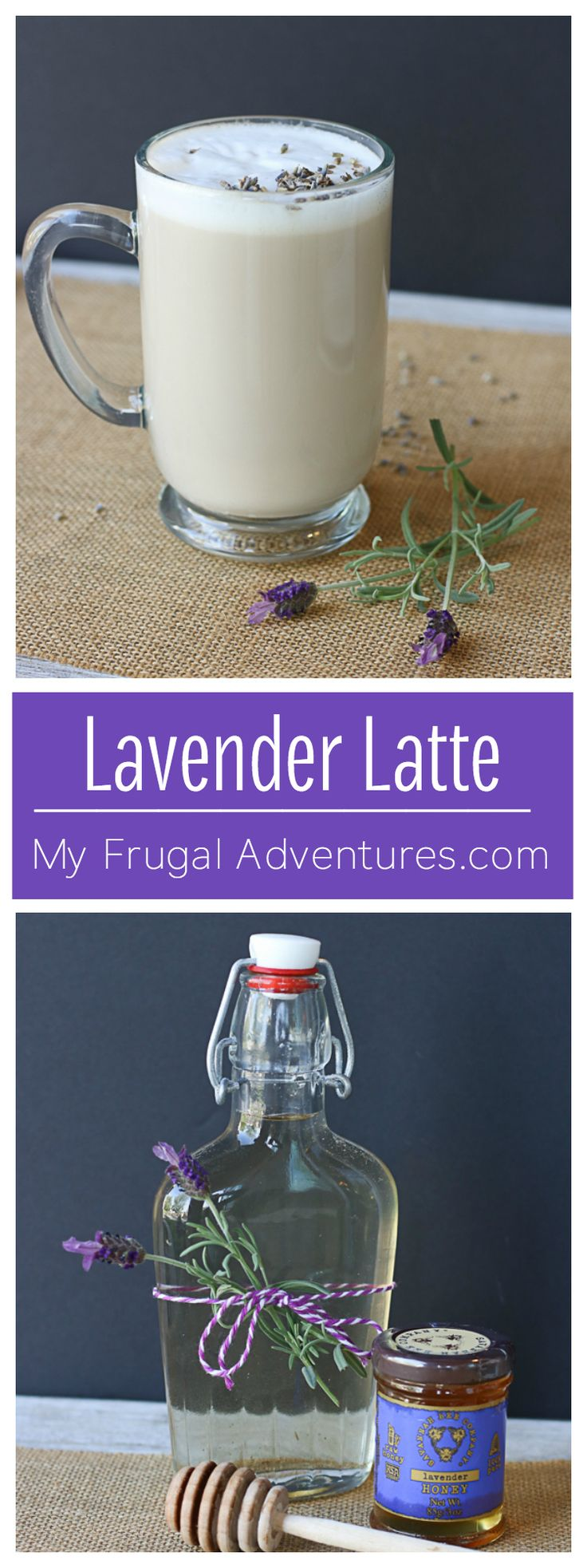 Simple and delicious lavender latte recipe.  So comforting and a perfect homemade gift idea!