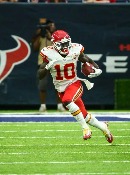 Tyreek Hill: Chiefs 19-12 lose to the Texans on Sunday 9-18-2016